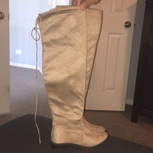Shoes - Brand New Knee high tan boots